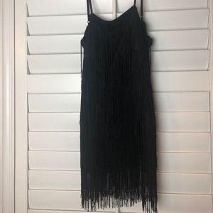 Black Fringe (Flapper) Dress